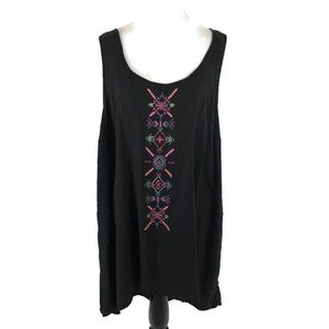 Torrid Hi-Low Tank Top Size 3X Embroidered